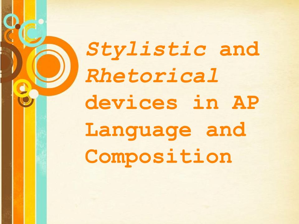 Rhetorical devices a handbook and activities for student writers answers