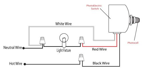 light control photocell wire instructions for outside lights