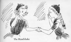 Girl guide badge images shaking hands