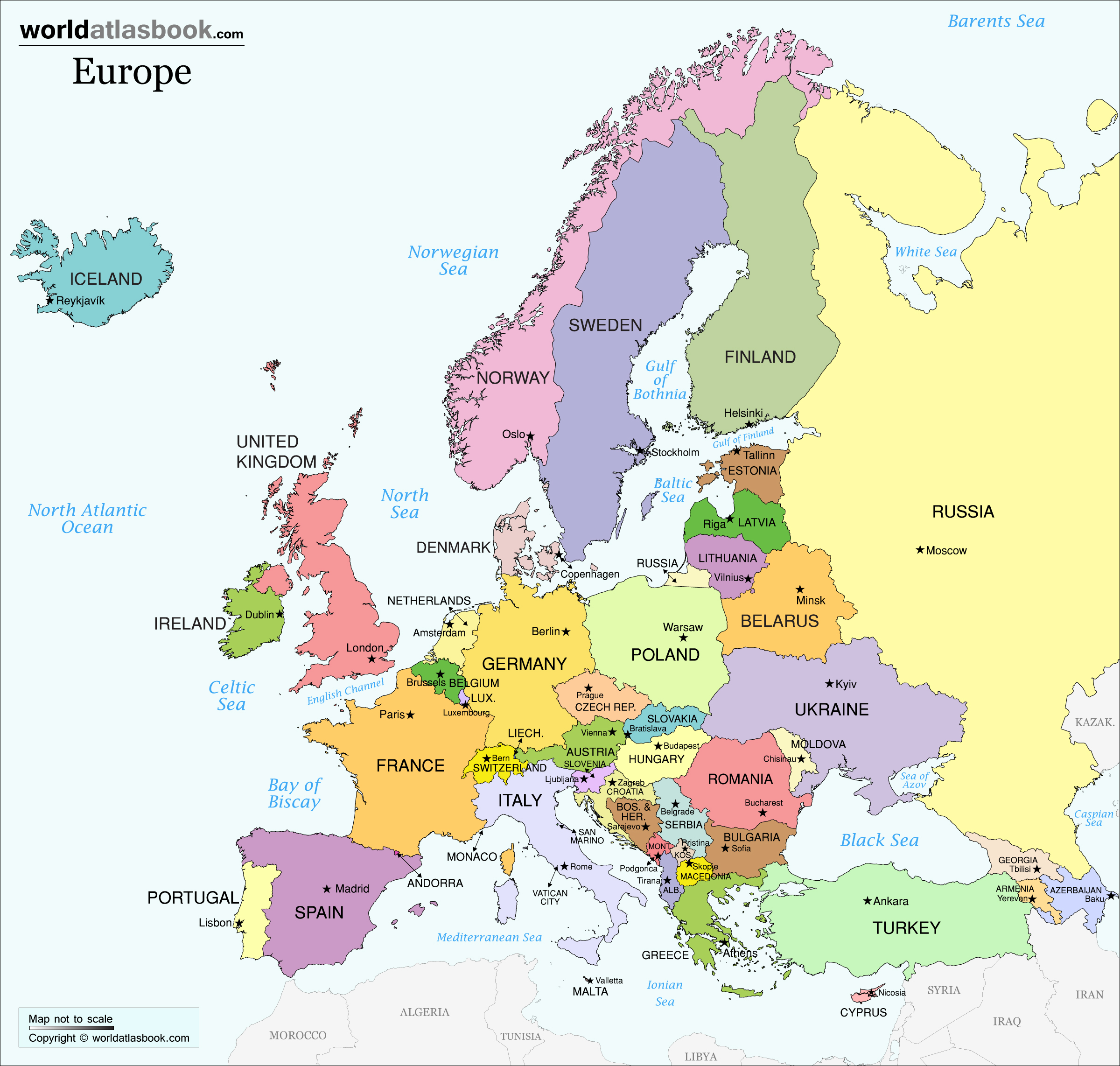 Europe map pdf high resolution
