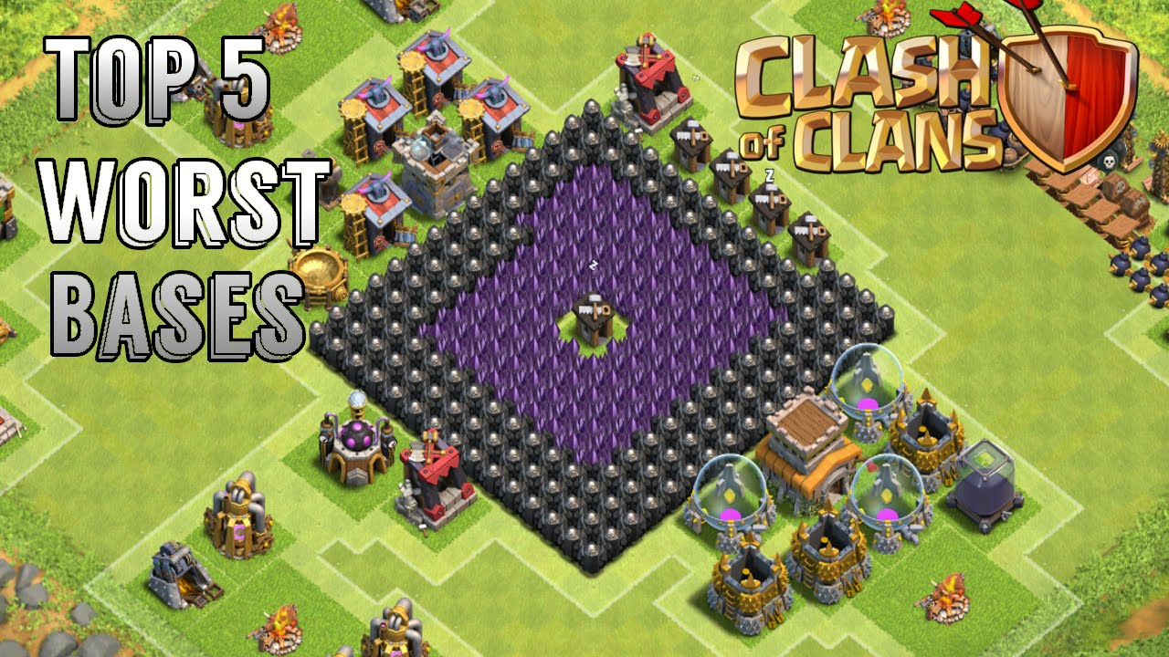 Clash of clans how to get trees around your base