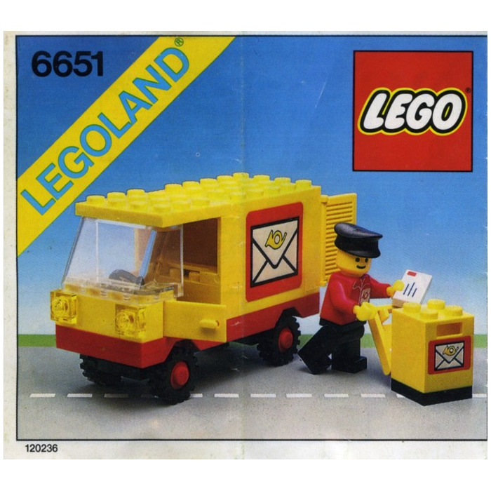 lego mail truck 7731 instructions