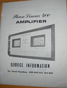 phase linear 400 owners manual