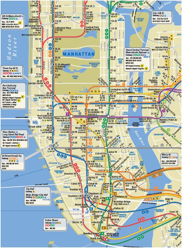 Printable map of manhattan pdf