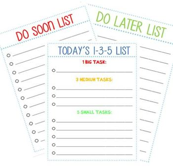 Prioritized to do list pdf